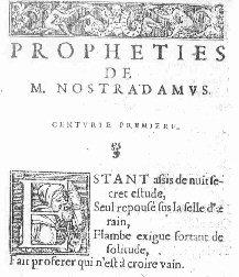Centuries I quatrain 1