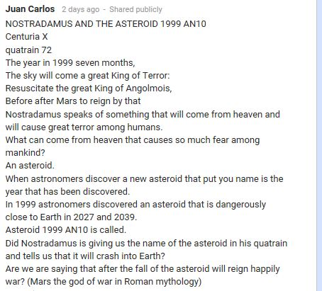 Juan Carlos asteroid 2015