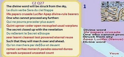 Nostradamus Prophecies C2 Q27 life paper codes