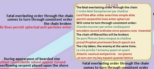 Nostradamus Prophecies C3 Q79 order of the chain broken